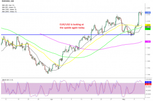 The bullish trend remains in EUR/USD but the upside gains are slowing now