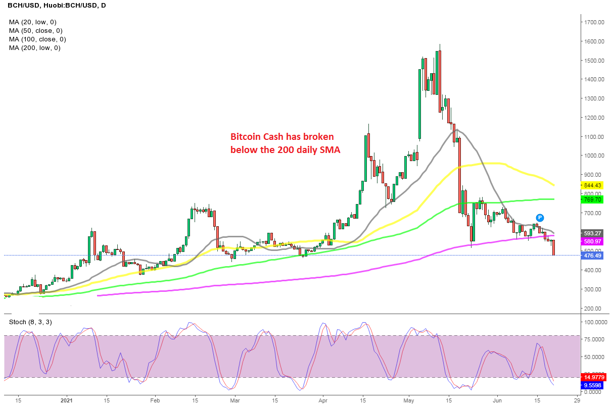 Bitcoin Cash (BCH) Leads the Decline for Cryptos, But There's Support