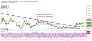 The bullish momentum picks up again today for Shiba Inu coin