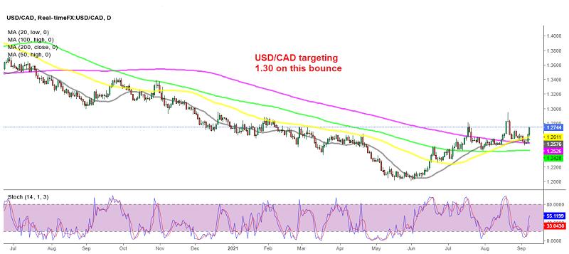 Buyers have resumed control in USD/CAD