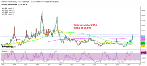 The bullish trend might be over now for Natural gas